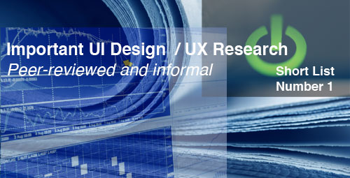 "user interface research papers Evaluating user interface systems research dan r olsen jr this paper addresses the last question of ""how should we evaluate new user interface systems so."